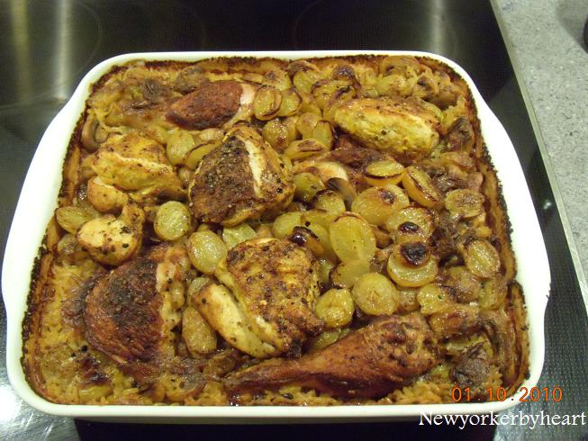 kyllingelår i ovn med ris