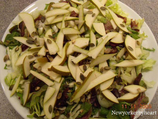salat med pærer