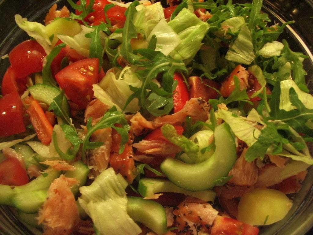 forret med rejer og asparges