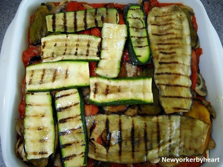 vegetar lasagne aubergine squash