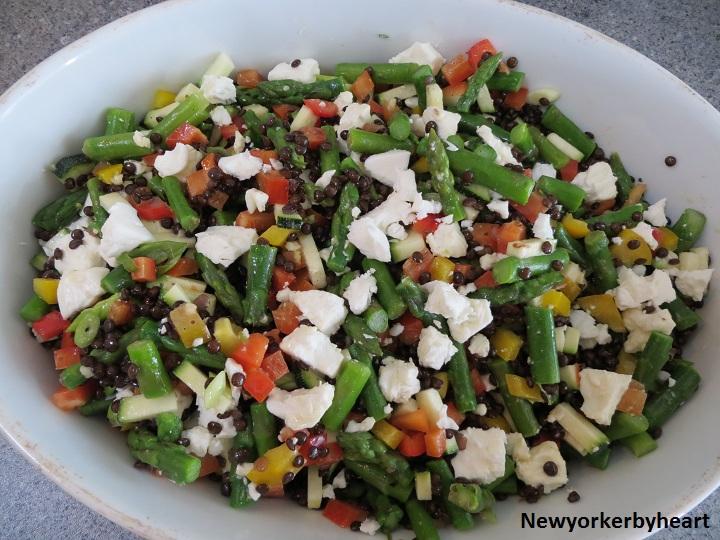 Salat linser feta