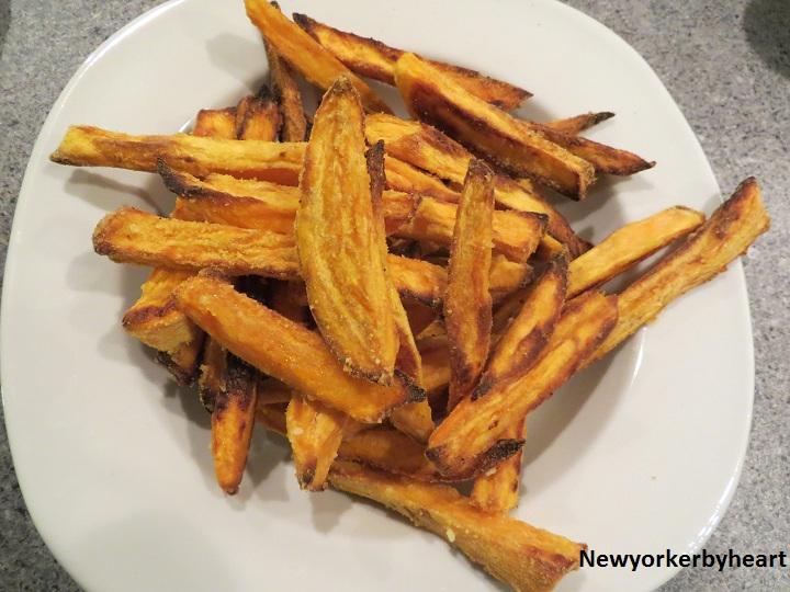 pommes frites af søde kartofler